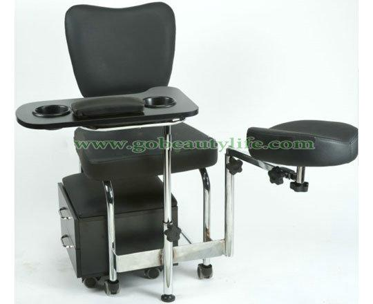 Black Pedicure Chair Bl P066